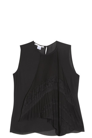 Oscar De La Renta Women`s Pleated Top Boutique1