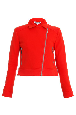 Elizabeth And James Women`s Plum Sweatshirt Biker Jacket Boutique1