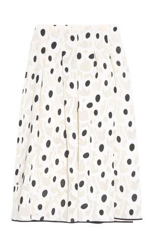 Oscar De La Renta Women`s Polka Dot Skirt Boutique1