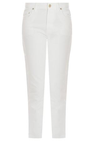 Acne Studios Men`s Pop White Crop Wide Jean Boutique1