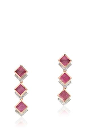 Precious Ruby Baja Earrings