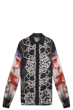 Elie Saab Women`s Printed Silk Shirt Boutique1
