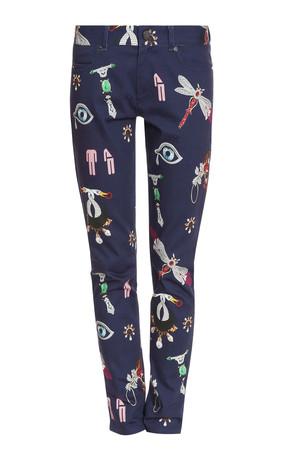 Mary Katrantzou Women`s Printed Skinny Jeans Boutique1