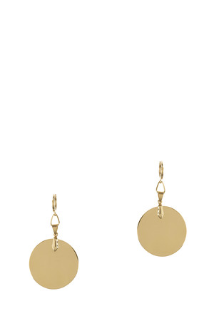 Round Charm Earrings
