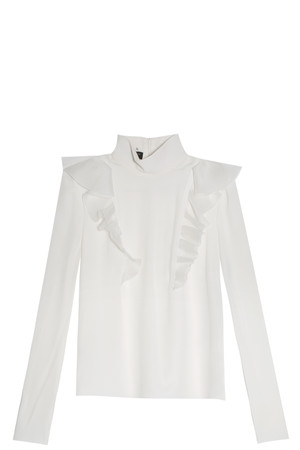 Giambattista Valli Women`s Ruffled Blouse Boutique1