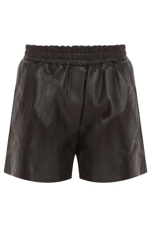 Acne Studios Women`s Salt Light Leather Shorts Boutique1
