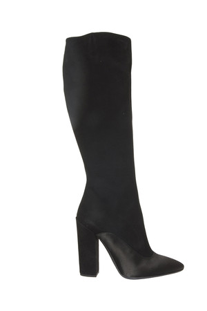 Giambattista Valli Women`s Satin Amp; Suede Boots Boutique1