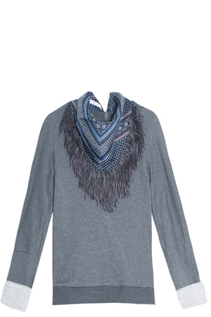 Derek Lam 10 Crosby Women`s Scarf Sweater Boutique1