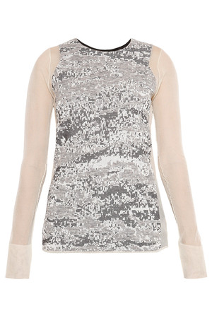 Alexander Wang Women`s Sheep Melange Jacquard Knit Top Boutique1