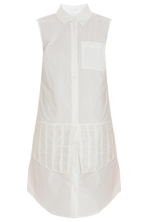 Derek Lam 10 Crosby Women`s Shirt Dress With Organza Grid Boutique1