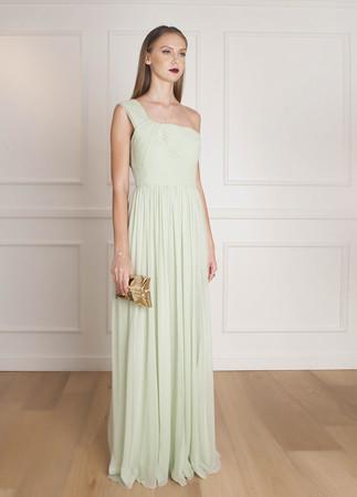 Shoulder Chiffon Dress