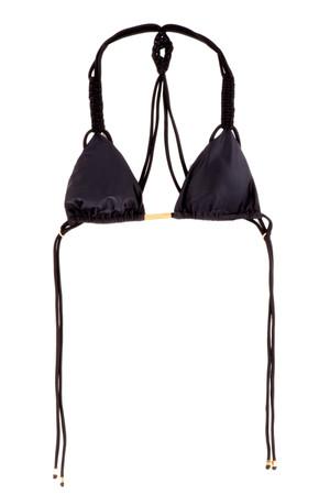 Solid Tri Macrame Bikini Top