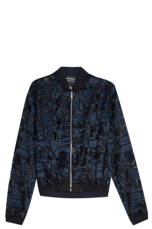 Markus Lupfer Women`s Stencil Bomber Jacket Boutique1