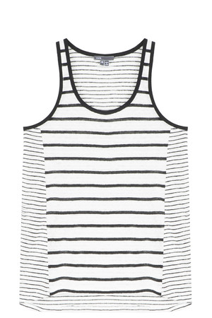 Vince Women`s Striped Linen Tank Boutique1