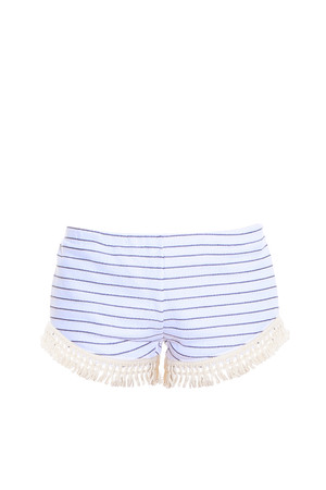 Lna Women`s Striped Tassel Shorts Boutique1