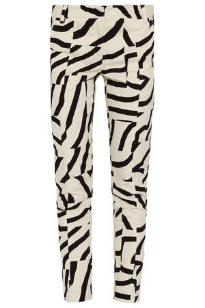 Tibi Women`s Lk26 Zebra Maze Slim Pant Boutique1