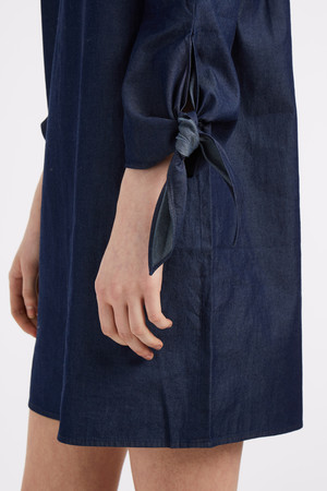 Tibi Women`s Tie Sleeve Denim Dress Boutique1