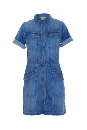 Current/elliott Women`s Trucker Shirt Dress Boutique1