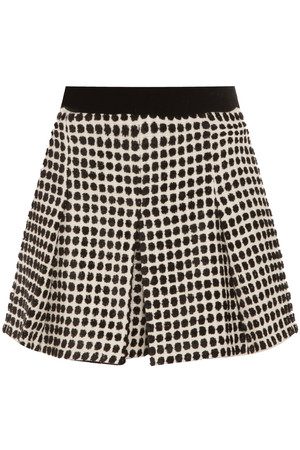 Proenza Schouler Women`s Velvet Tweed Monocrome Short Boutique1