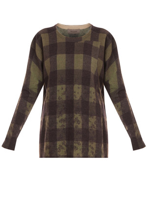 Women`s West Sweater Printed Lambswool