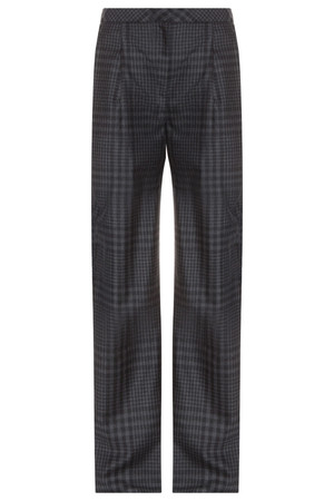 Adam Lippes Women`s Wide Leg Checkered Pleat Trousers Boutique1