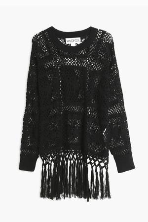 Wildfox Women`s Fringed Crochet Top Boutique1