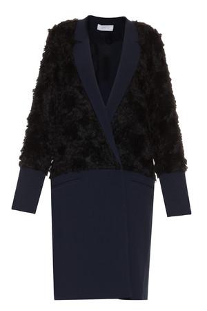 Derek Lam 10 Crosby Women`s Wrap Front Faux Fur Coat Boutique1