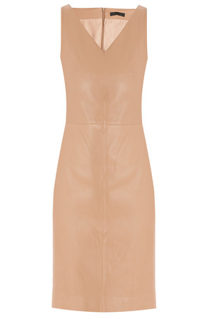 The Row Women`s Zilton V Neck Leather Dress Boutique1