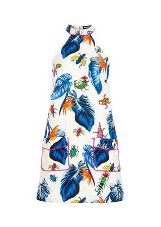 Printed Panelled Dress