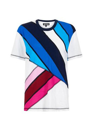 Stripe Boxy Fit T- Shirt