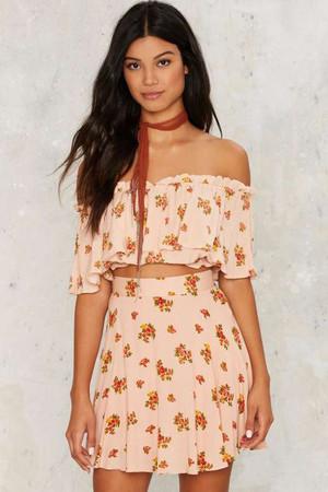 Abigail Ruffled Floral Skirt