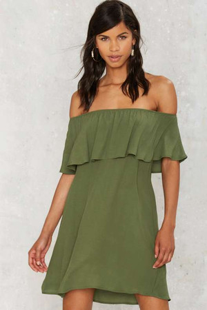 After Party by Nasty Gal After Forever Ruffle Dress