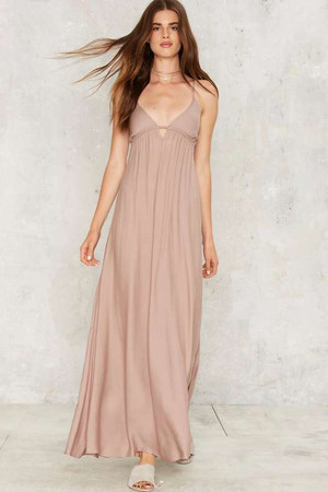 Aislin Plunging Maxi Dress
