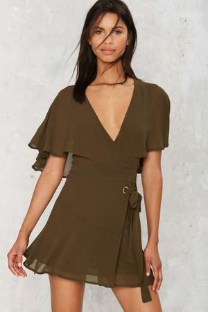 Chiffon the Way Wrap Dress