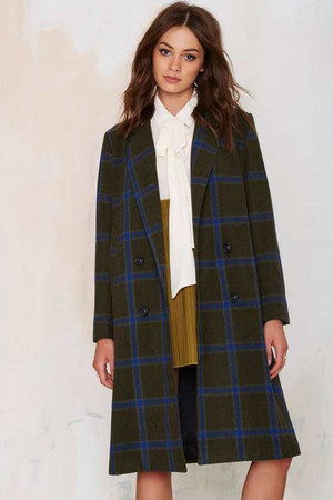 J.O.A. Melina Plaid Coat