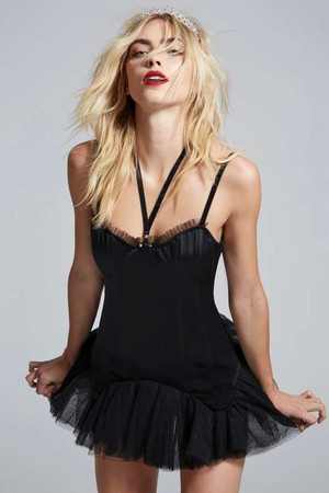 Love, Courtney by Nasty Gal Miss World Satin Tutu Dress