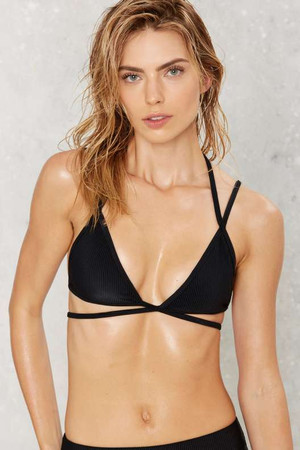 Nasty Gal Alina Mix & Match Strappy Bikini Top