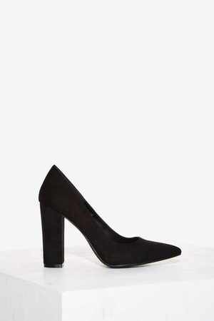 Nasty Gal Baxter Vegan Suede Pump - Black