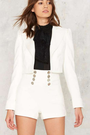 Nasty Gal Collection Powers That Be Cropped Blazer