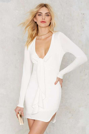 Nasty Gal Deep 'Em Guessing Jersey Dress