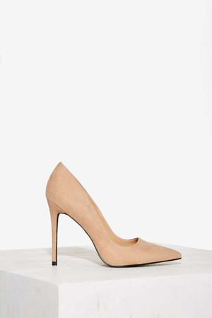 Nasty Gal Play It Cool Stiletto Pump - Nude