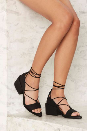 Nasty Gal Ricci Vegan Leather Heel