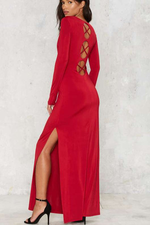 Nasty Gal Sunrise Poison Maxi Dress