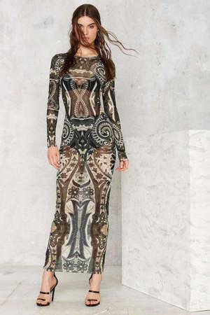 Nasty Gal Viper Mesh Maxi Dress