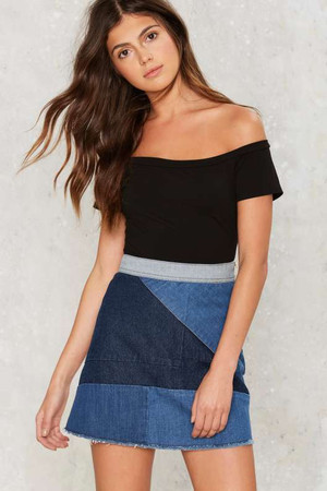 Piece Be with You Denim Skirt