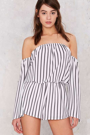Stroke of Luck Striped Romper