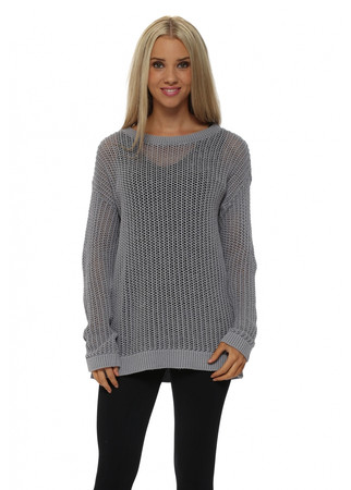 Polly Open Weave Pearl Sweater