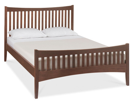 Alba Walnut High Footend Bedstead - Single, Double or King Size   (King Size Bed)