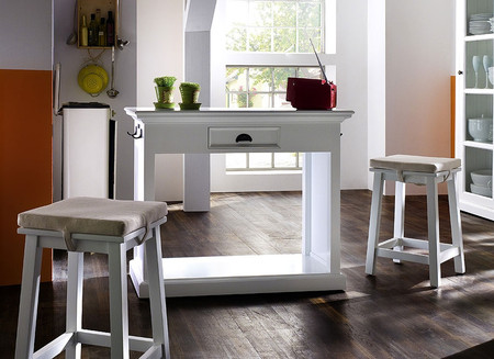 Belgravia Painted Breakfast Table & 2 Stools with Cushions