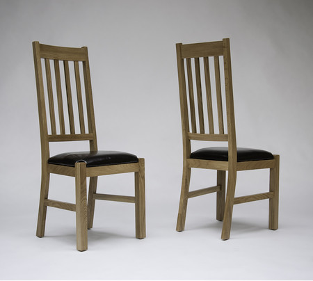 Hereford Oak Dining Chairs - Pair